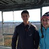 Jake and Lolo on the top of Burke Mountain in Vermont