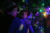 DAVID LACHANCE — BENNINGTON BANNER<br /> Sarah Sanfilippo of Pownal and her daughter, Cicely, get a close look at the lights.