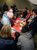 DAVID LACHANCE — BENNINGTON BANNER<br /> After the lighting, families gather at the Bennington Area Chamber of Commerce headquarters next door for treats that included cookie decorating and hot apple cider.
