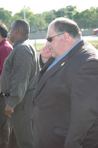 KU head football coach Mark Mangino calls in what he seen.