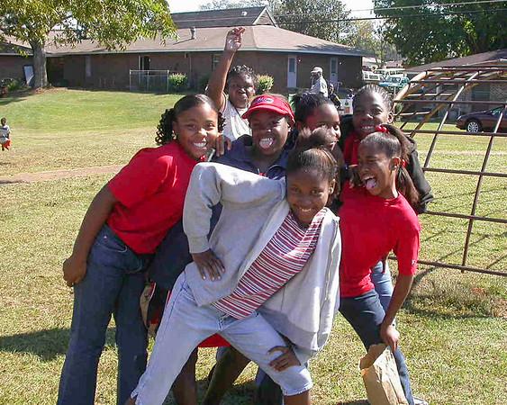 girls at Triune Village