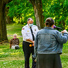 KRISTOPHER RADDER — BRATTLEBORO REFORMER<br /> Brattleboro Police Chief Michael Fitzgerald holds a community forum at the Common, in Brattleboro, Vt., to talk about the police department and get feedback from the community on how to improve on Wednesday, June 17, 2020.