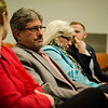 Mayor Stephen DiNatale listens in during a public forum to discuss the future of the Fitchburg Theater Block on Thursday, April, 6, 2017. SENTINEL & ENTERPRISE / Ashley Green