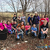 OUTDOOR SPRING CLEANING—Saint Peter the Apostle Middle School, Joplin, sixth-, seventh-, and eighth-graders planted tulip bulbs, raked leaves, and cleared away debris in the Prayer Garden of Sacred Heart Parish, Webb City. (<i>The Mirror</i>)