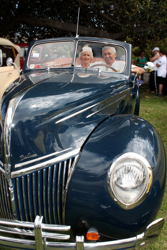 Mary and Rif Riffel are livin' the dream at the wheel of their lovingly restored 1939 Ford Deluxe convertible.