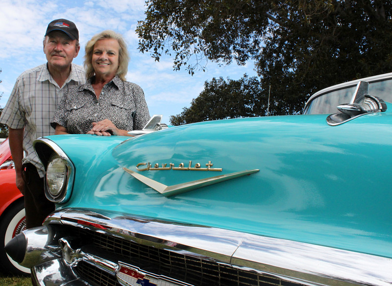 Dick and Janice Kutin's fifty-year marriage came full circle in 2010 when they renewed their vows on a California beach.  Dick's wedding present to his blushing bride: a newly-restored turquoise 1957 Chevy, the same model he drove when they were courting in Cedar Falls, Iowa back in 1960