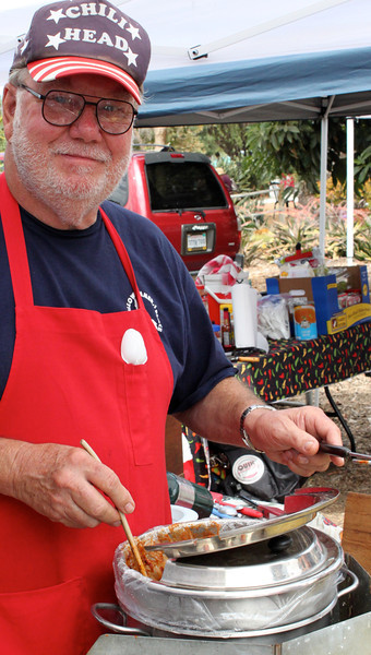 Howard Choate makes no bones about his calling at the fourth annual Camarillo Chili Cook-off and Country Music Festival.