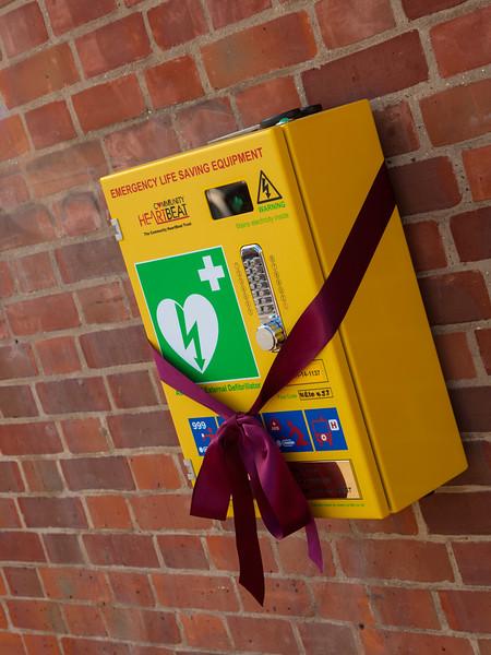 Defibrillator unveiled in Reepham