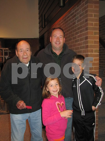 Bruce Kahler with his son, Jason Kahler, and grandkids, Jocelyn and Carson.