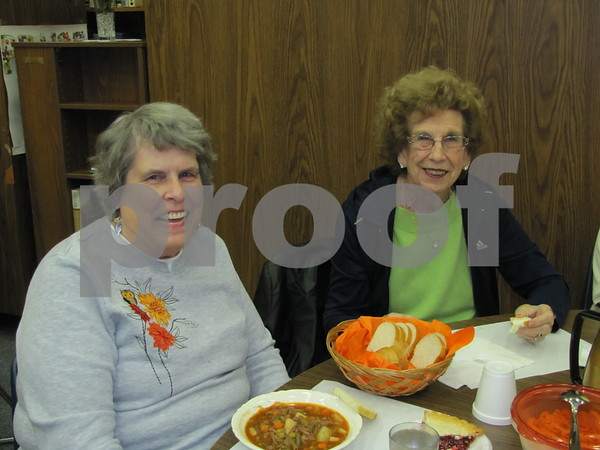 Marlene Osborne and Irene Porter attended the annual soup supper.