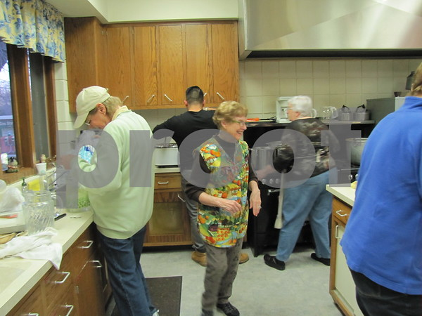 It's a team effort at First Congregational Church UCC when they put on their annual Election Night Soup Supper.