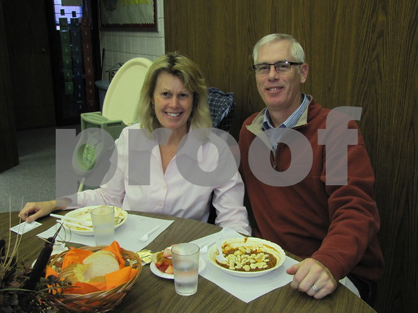 Katie and Chris Cleveland attended the Election Night Soup Supper at First Congregational Church in Fort Dodge.