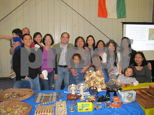 The Philippines' group in their booth at Festival of Nations.
