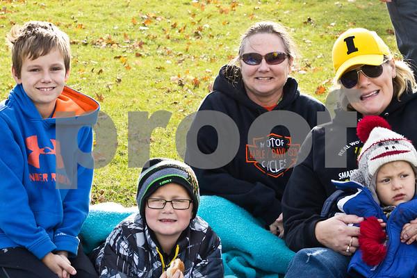 Danien Jorgensen, Hayden Greene, Kalene Greene, Kristen Green, and Dewson Greene sit eagerly awaiting to cheer on Randy Greene to take the plunge!