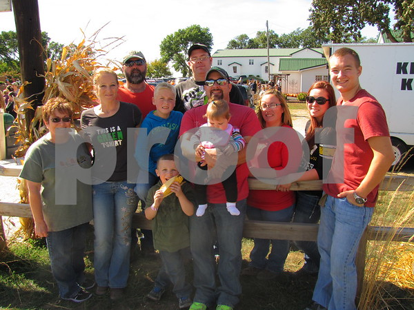 The Timm family from Webster City came to enjoy the beautiful day at Apple Fest at the Community Orchard.