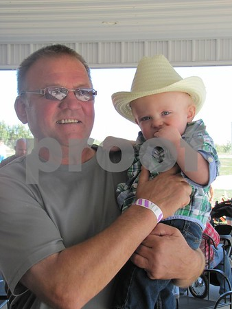 Grandpa Joe Vonsak with Wesley at Apple Fest.