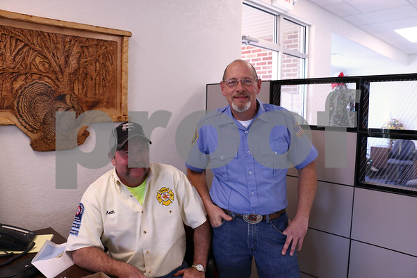 Keith Streit and Rick Breeden managing raffle and wreath tickets.