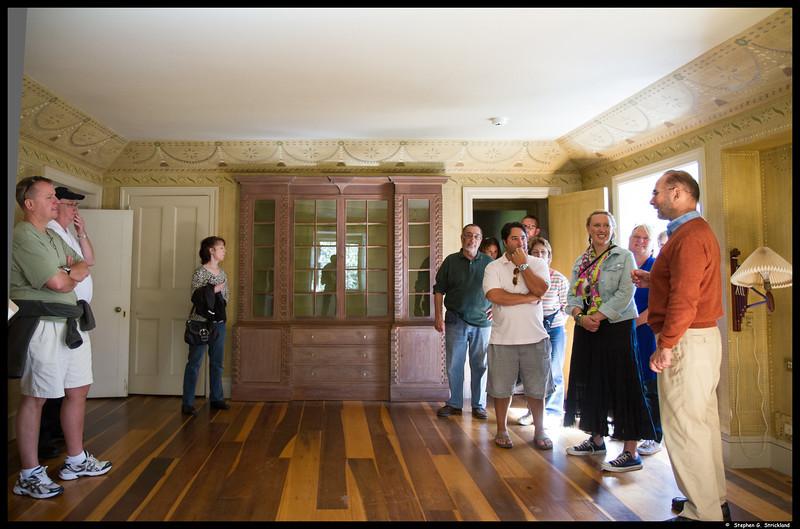 Sam Shramko leads a tour of the Harding House.