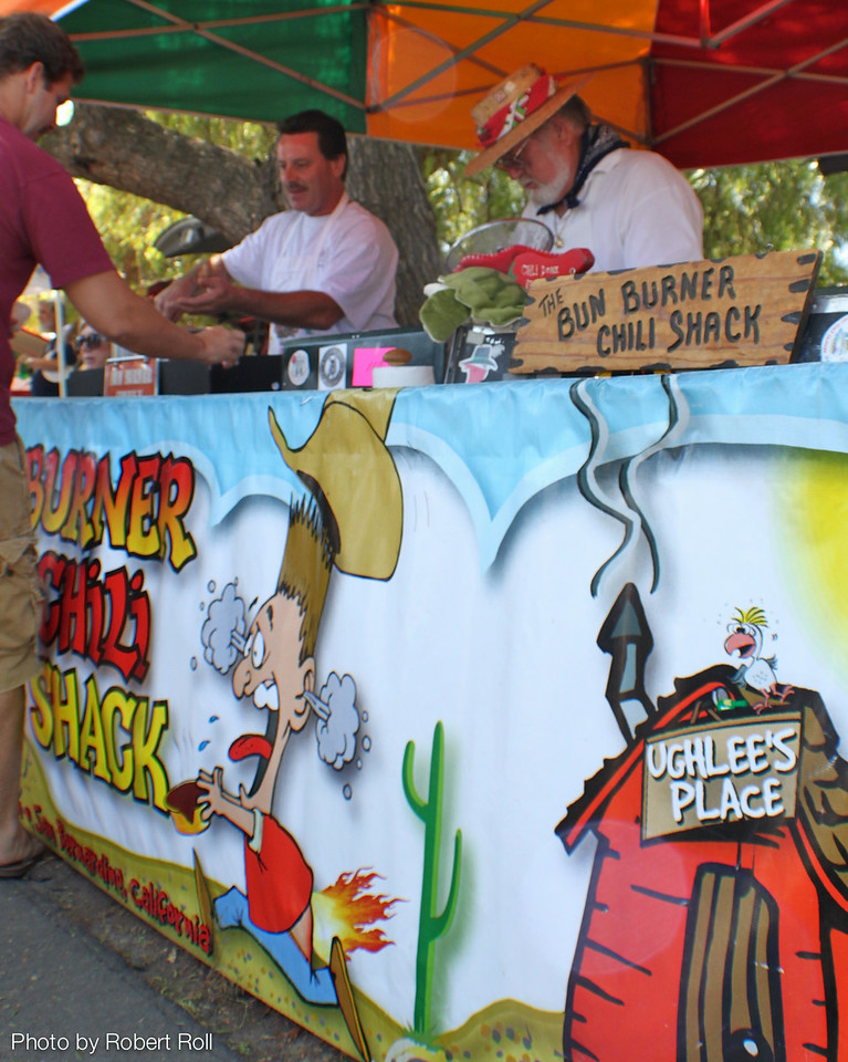The Bun Burner Chili Shack of<br /> San Bernardino was one of more than two dozen booths serving up their hot stuff at the third annual Country Music Festival and Chili Cookoff on Sunday, September 4.