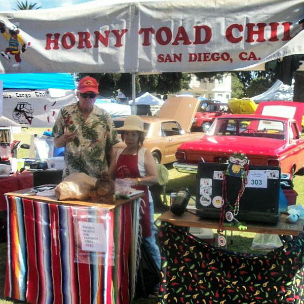 """There was no way to tell this early in the proceedings, but Reb and Sachiko Brecke's Horny Toad Chili was destined for great things at the 2014 Camarillo Chili Cook-Off.  Photo courtesy of Steve """"Ughlee"""" Austin"""