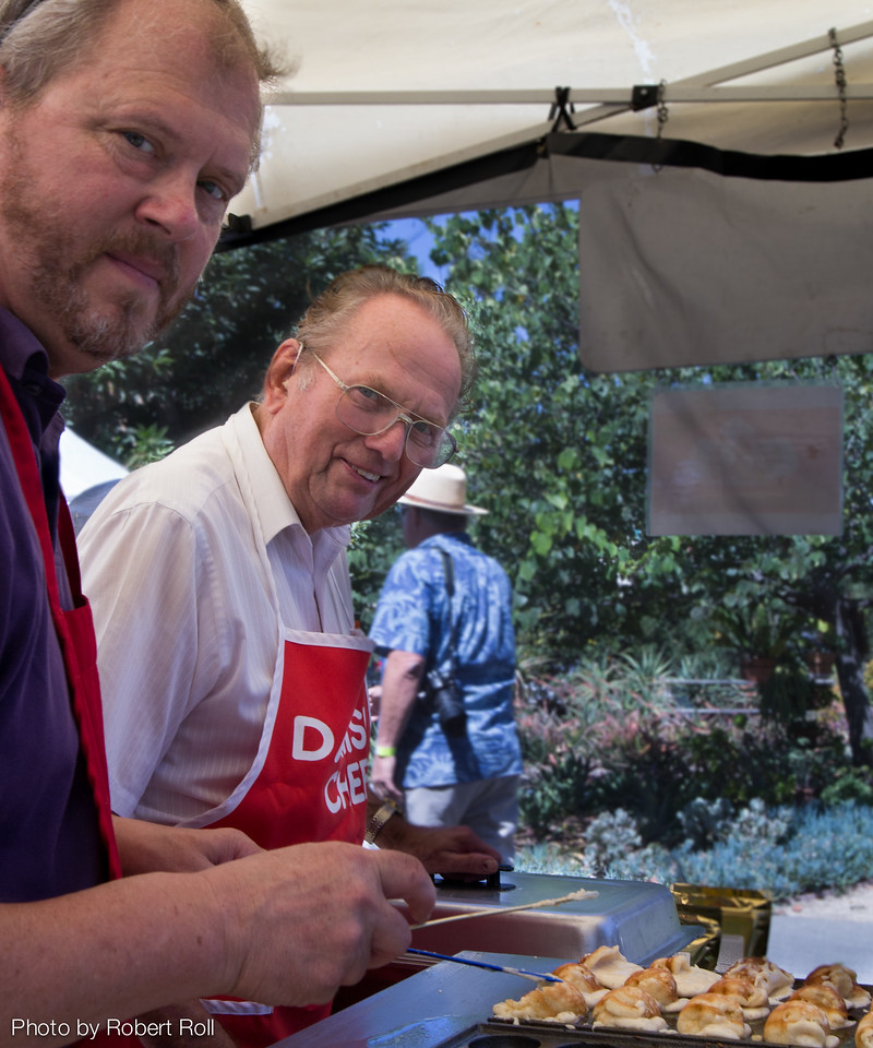 Unaffected by the tooth-and-nail chili competition, Arne Hansen and crew trucked down from Solvang for the day to dish out his heavenly Danish apple pancakes