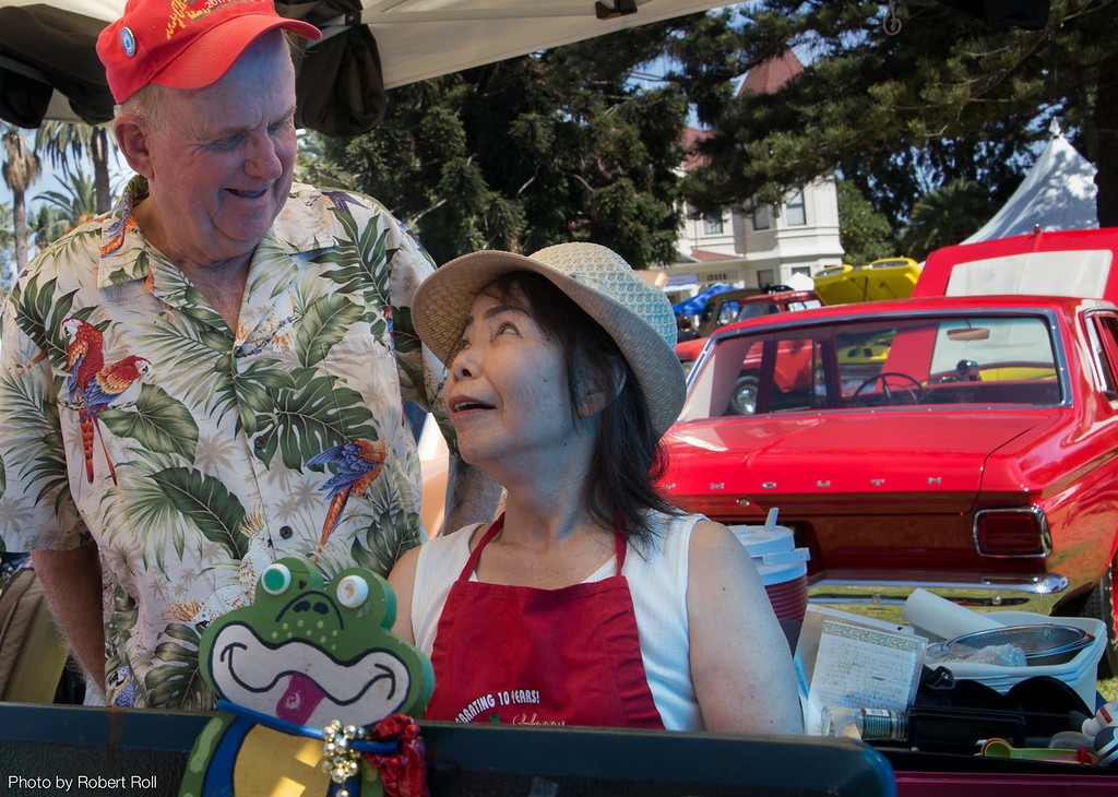 """San Diego's Reb and Sachiko Brecke discuss whether they have made enough of their """"Horny Toad Chili"""" to please both the judges and all the visitors to the 2014 Camarillo Chili Cook-off."""