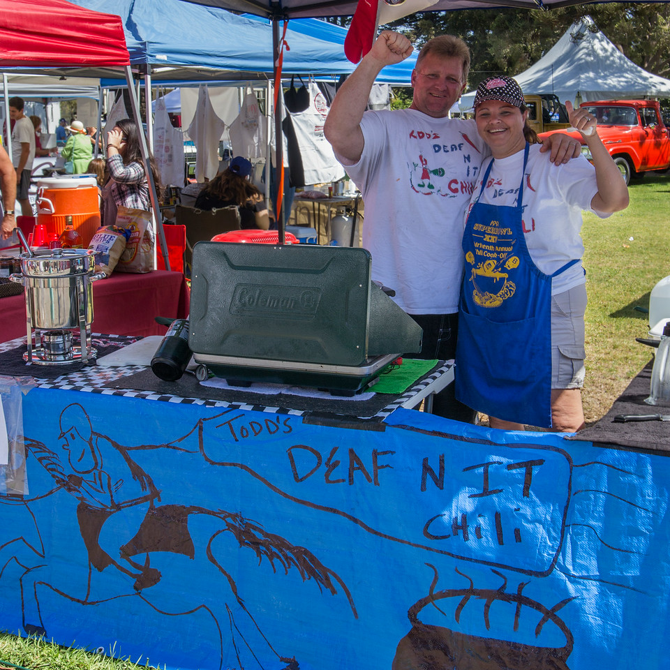 Todd and Kim Tolley from Lodi were a Deaf-n-It favorite at the 2014 Camarillo Chili Cook-Off and Music Festival
