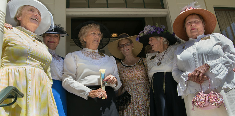 Dressed in authentic Victorian regalia, volunteers from the Camarillo Ranch offered tours of Adolfo Camarillo's lovingly restored 1892 home as part of the city's 50th anniversary of incorporation.  The Ranch House, its iconic red barn and grounds played host once again to the sixth annual Chili Cook-Off and Music Festival that bears Don Adolfo's name.