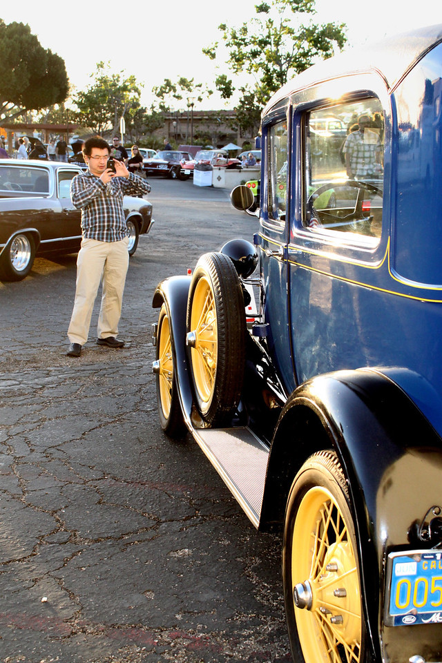 A painstakingly restored 1929 Ford Model A was the dowager queen at Camarillo's inaugural Cruise Night. The city's Old Town district was populated with more than a hundred classic vehicles and their owners on Friday, April 27.