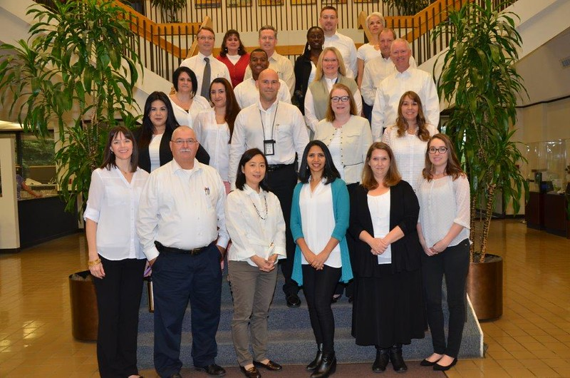 Staff members for the City of Arlington wore white for #ColorsForCaring!