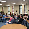 Central Junior High students listen to a presentation.