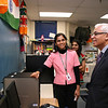 Consul General gets a tour of the school.