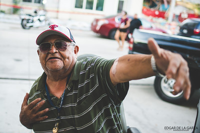 I came across an area with several, older people in wheel chairs. I am not sure if it was a care home in the downtown area of Corpus Christi, but after taking a photo of a person just down the street. This man asked if i'd love to take his photo. I obliged, him and his friends had a laugh - worth it.