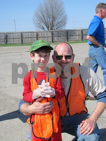 Andy Houk and his son Zach were ready pitch in and do their part to help with the Fort Dodge Growth Alliance project.