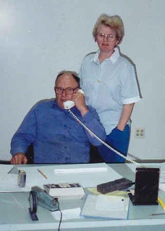 John and Marie (Schrack) Hill in John's office.