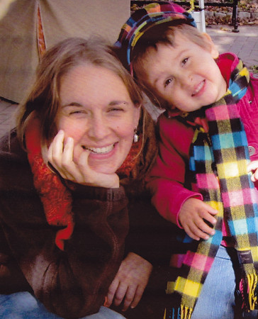 Jenna Fetherolf(grand-daughter of Esther( Hill) and Harold Derr), with daughter, Ellee Russell.