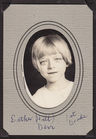 Esther Hill (Derr), 1st grade.