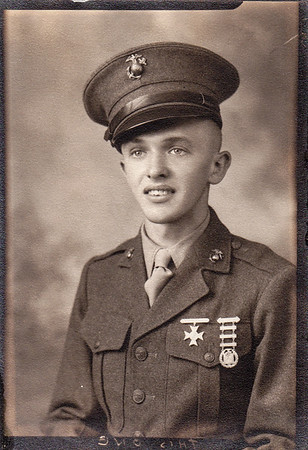 Harold Derr, age 19, (born Agu 6, 1924), in the Marines.