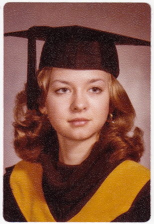 Lisa Derr (later Lippman), graduating from Kutztown State College, Kutztown, PA (now Kutztown University). 1974