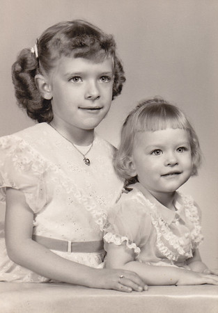 Daughters of Esther (Hill) and Harold Derr: Dorian (age 6) and Lisa (age 2).
