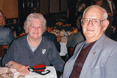 Mabel (Heffner) and Pharis Fry, at Harold and Esther (Hill) Derr's 60th anniversary.