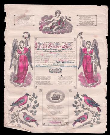 John D Strausser Birth Cirtificate