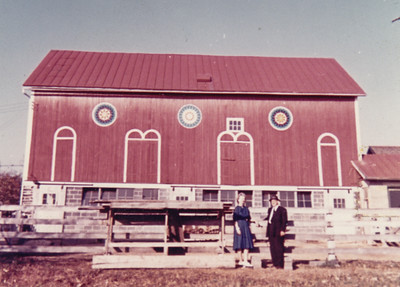 Barn on Hill homestead. Does anyone know the date or who these people are?