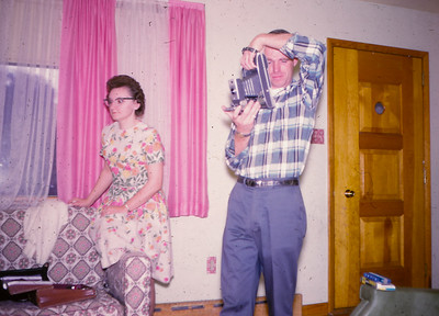 Al and Anna (Hill) Billig, in the home of John and Marie (Schrack) Hill, in the early 1960's.