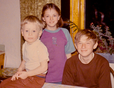 Children of John M. and Marie M. (Schrack) Hill, L-R: Jesse J., Beth A. (later Humma) and Bart W. Hill.