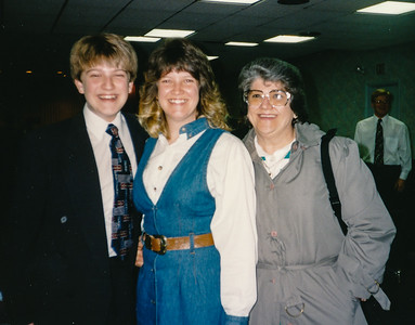 Carol (Moyer) Grim, with her nephew Jacob Eyer and mother Joan Moyer