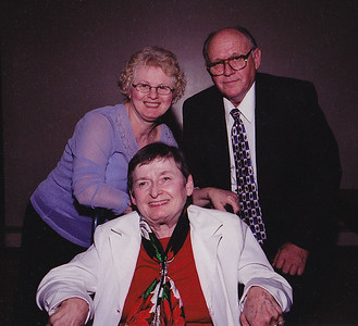 John and Marie Hill with friend Janet Berger (seated), Jan. 14, 2004