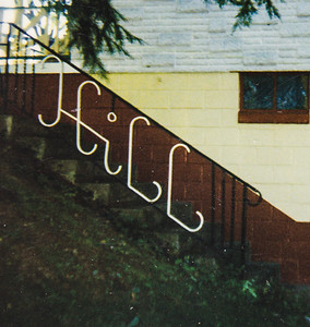 John M. Hill designed and built this railing at his house.