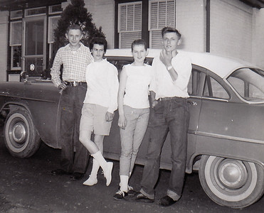 L-R: Daniel and Betty (Rubright) Hill, Marie (Schrack) and John Hill. (Developed May 1958)