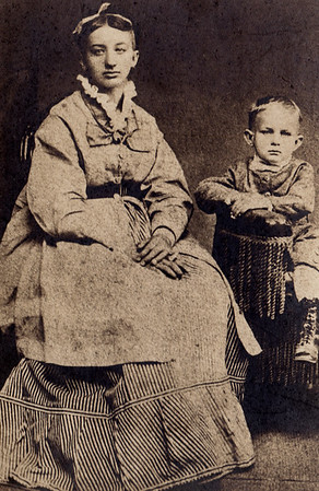 Ellen Elizabeth Wanner (born 1857,later the wife of John M. Hill) and her youngest brother John Wanner (born 1870).
